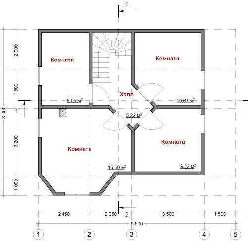 план второго этажа дома Пегас