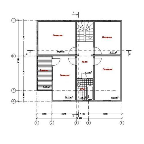 план второго этажа дома Альтаир