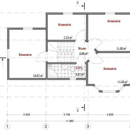 план второго этажа дома Орион