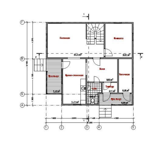 план первого этажа дома Альтаир