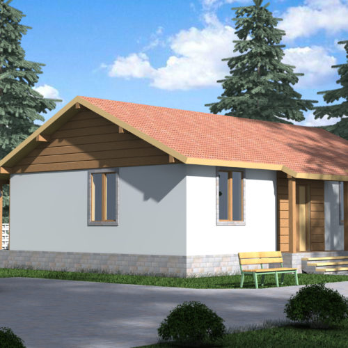 Проект дома из СИП панелей Арктур
