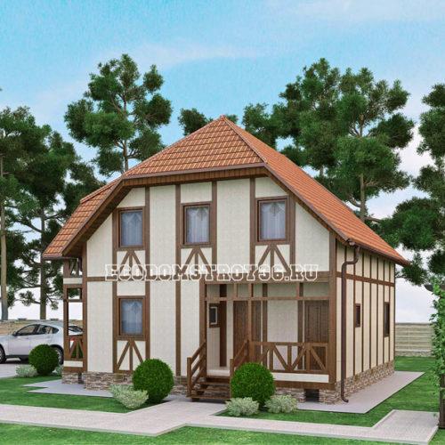 проект дома из сип панелей Альтаир