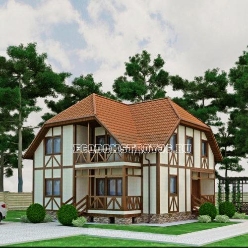 проект дома из сип панелей Альтаир вид 2