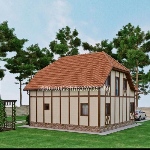 проект дома из сип панелей Альтаир вид 3