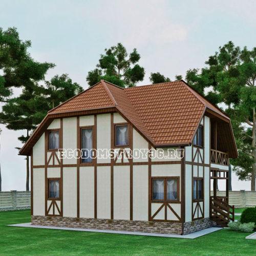 проект дома из сип панелей Альтаир вид 4