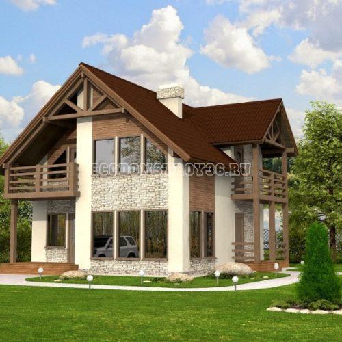 Проект дома из СИП панелей Бавария