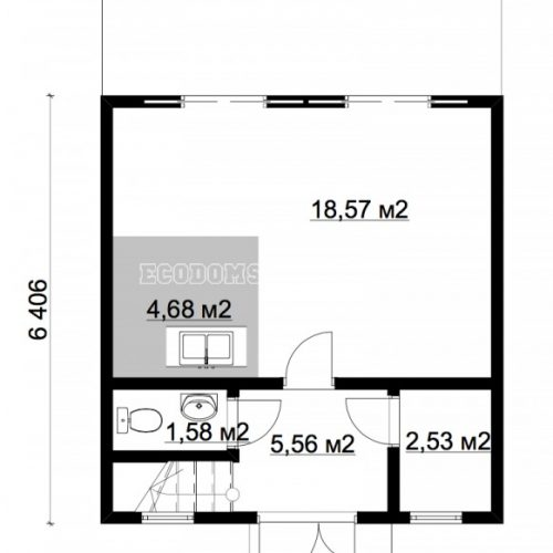 план мансарды дома алькор