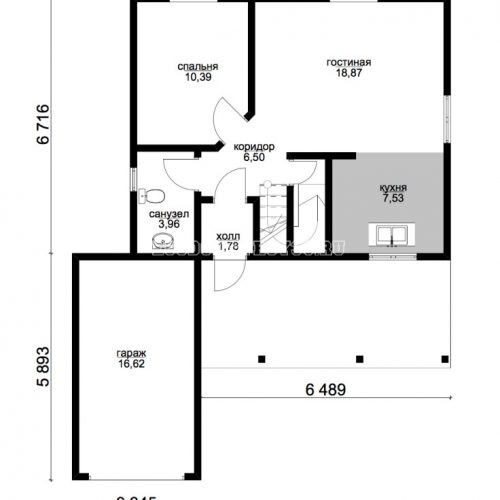 план первого этажа дома алькор