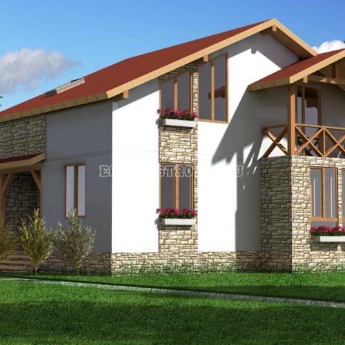 проект дома из сип панелей альпийский