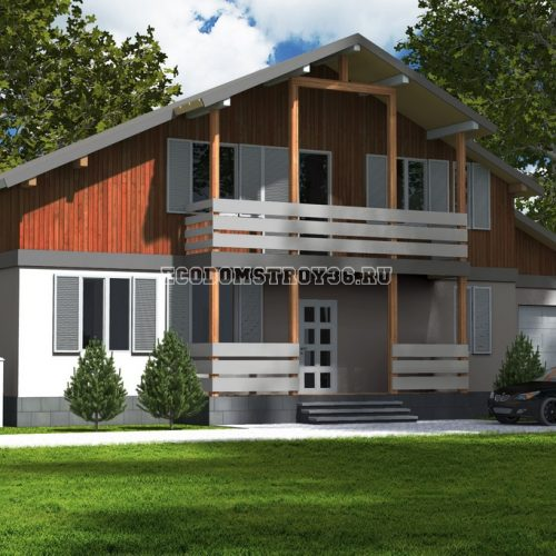 проект дома из сип панелей альпийский 2