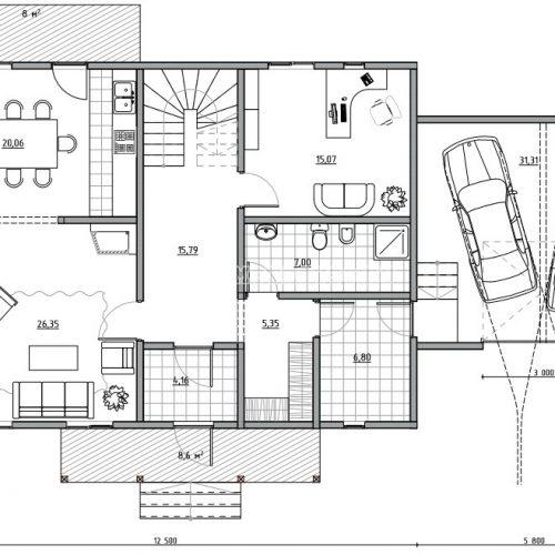 план первого этажа дома альпийский 2