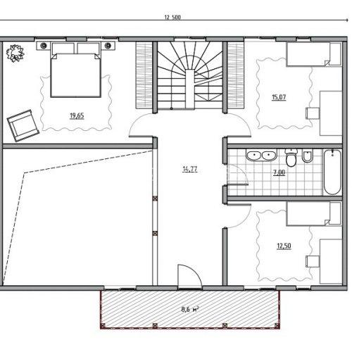 план второго этажа дома альпийский 2