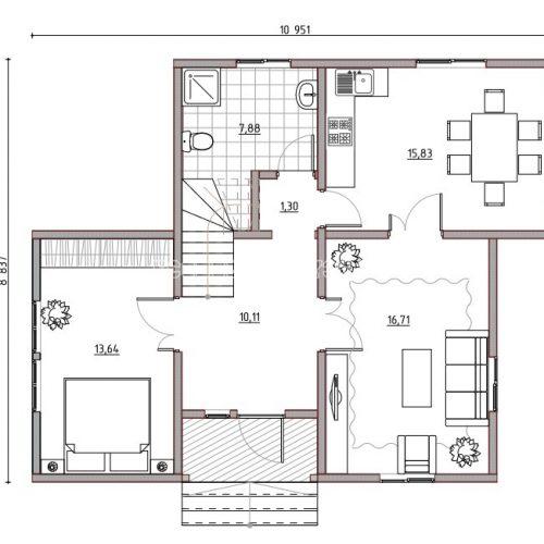 план первого этажа дома альпийский