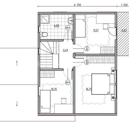 план мансарды дома альпийский