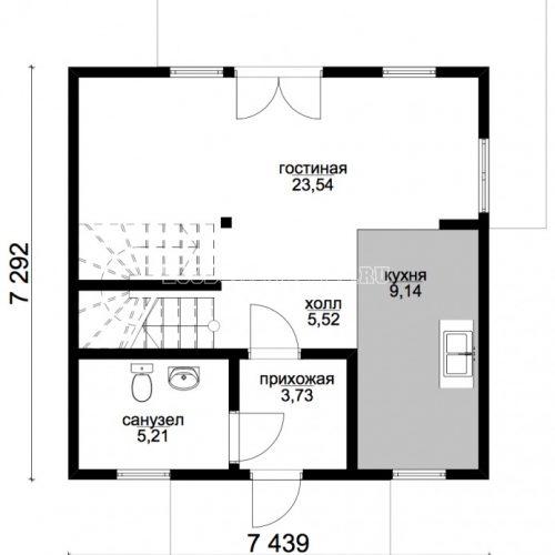 план первого этажа дома атлант