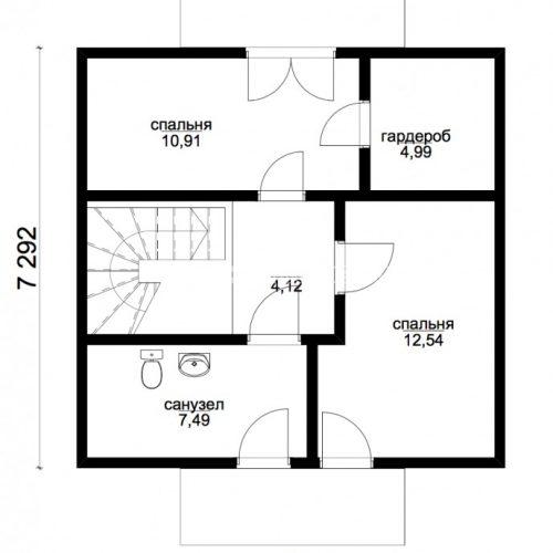 план второго этажа дома атлант