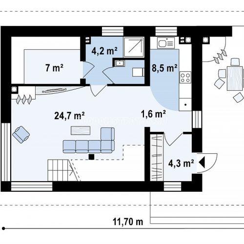 план первого этажа дома барселона