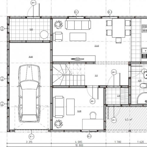 план первого этажа дома байкал