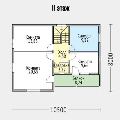 план второго этажа дома галеон