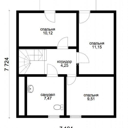план мансарды дома люгер