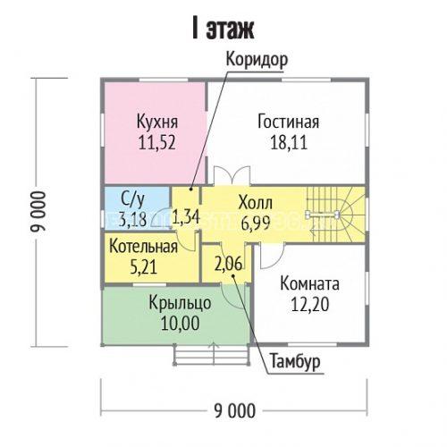 план первого этажа дома маури