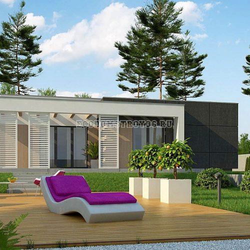 проект дома из сип панелей модерн