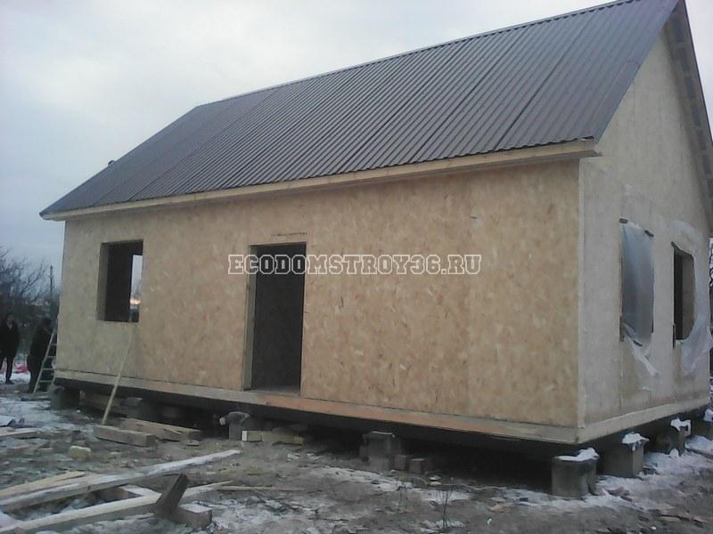 Фото дома из СИП панелей в селе Углянец