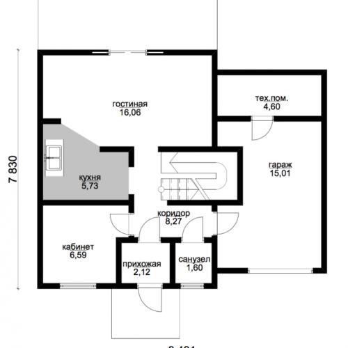 план первого этажа дома Эридан