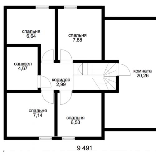 план второго этажа дома Эридан