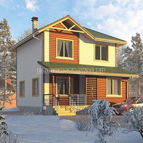 Проект дома из СИП панелей Кама