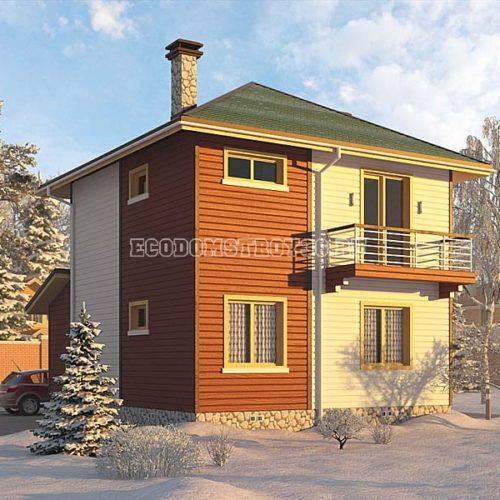 Проект дома из СИП панелей Кама вид 2