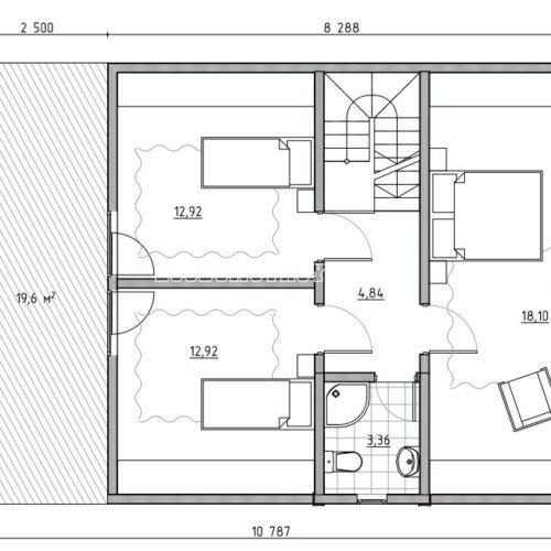 план мансарды дома лесной
