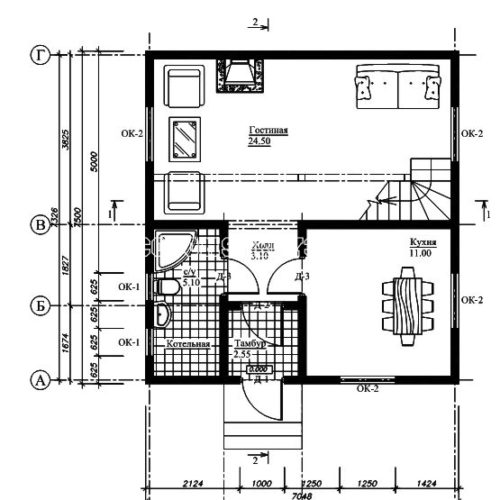 план 1 этажа дома лира