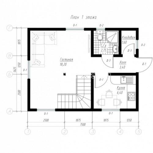 план 1 этажа дома мечта