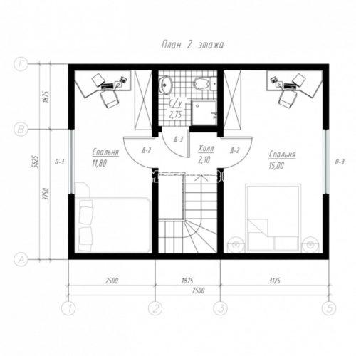 план 2 этажа дома мечта
