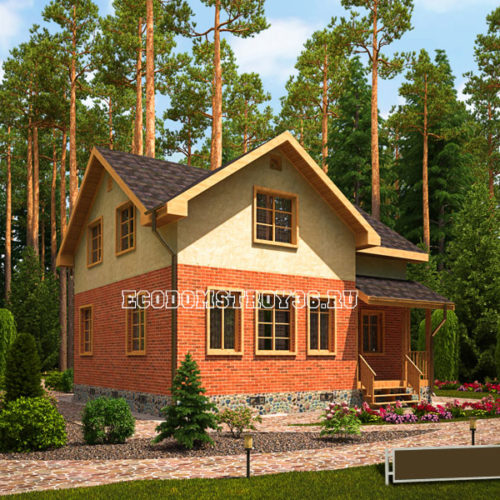 проект дома из сип панелей Модис вид 2
