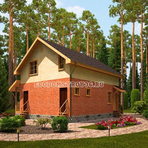 проект дома из сип панелей Модис вид 3