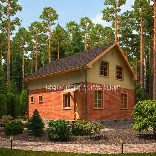 проект дома из сип панелей Модис вид 4