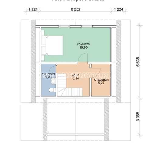 план 2 этажа дома с мансардой омега