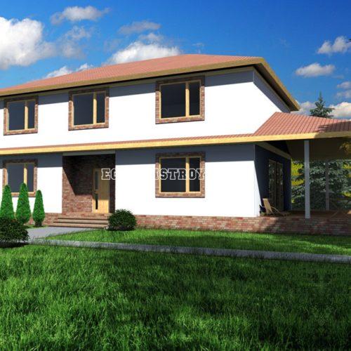 проект двухэтажного дома орион 104