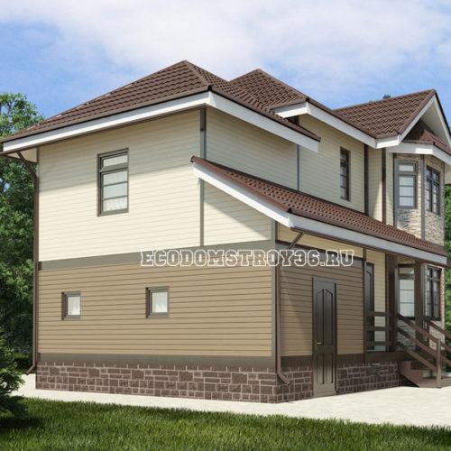 проект дома из сип панелей Орион вид 2