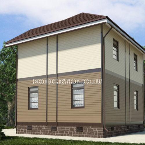 проект дома из сип панелей Орион вид 4