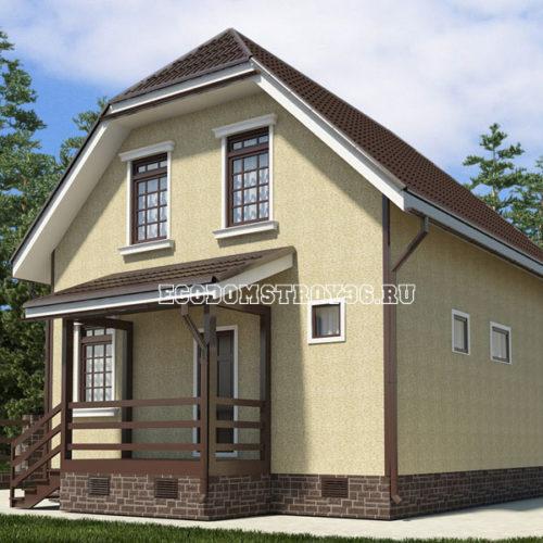 проект дома из сип панелей Пегас вид 2