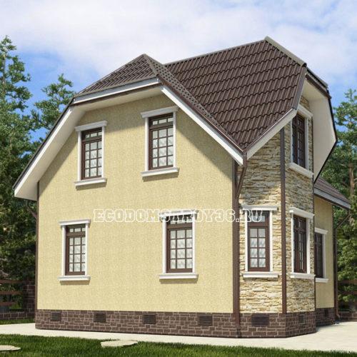 проект дома из сип панелей Пегас вид 3