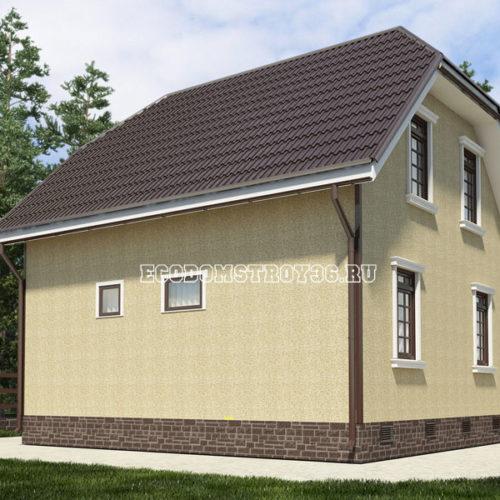 проект дома из сип панелей Пегас вид 4