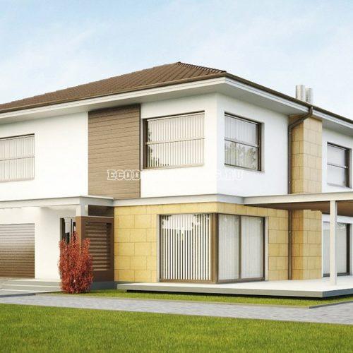 проект дома с гаражом персей вид 2