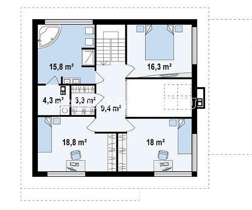 план 2 этажа дома с гаражом персей