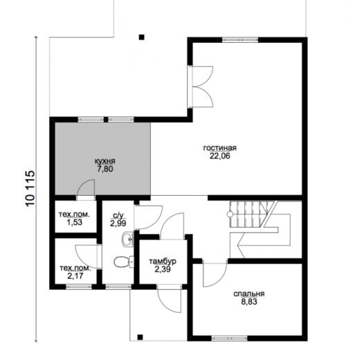 план первого этажа дома Сириус
