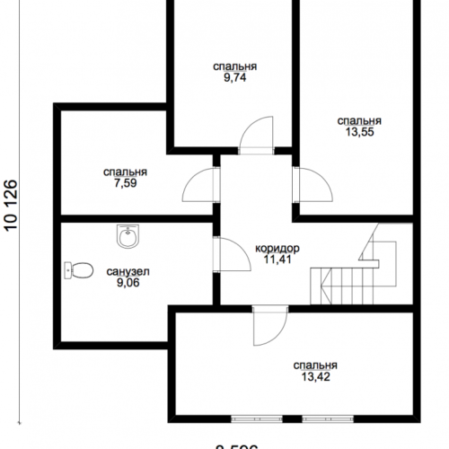 план второго этажа дома Сириус