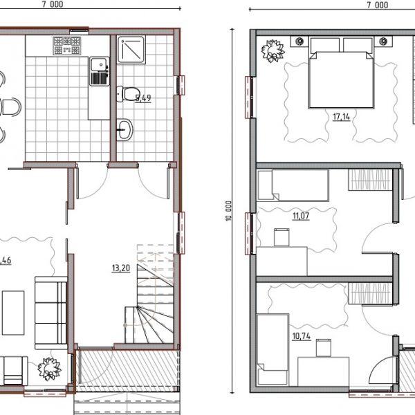 план дома из клееного бруса 2